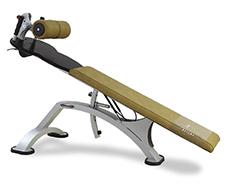 Musculation abdos banc incliné